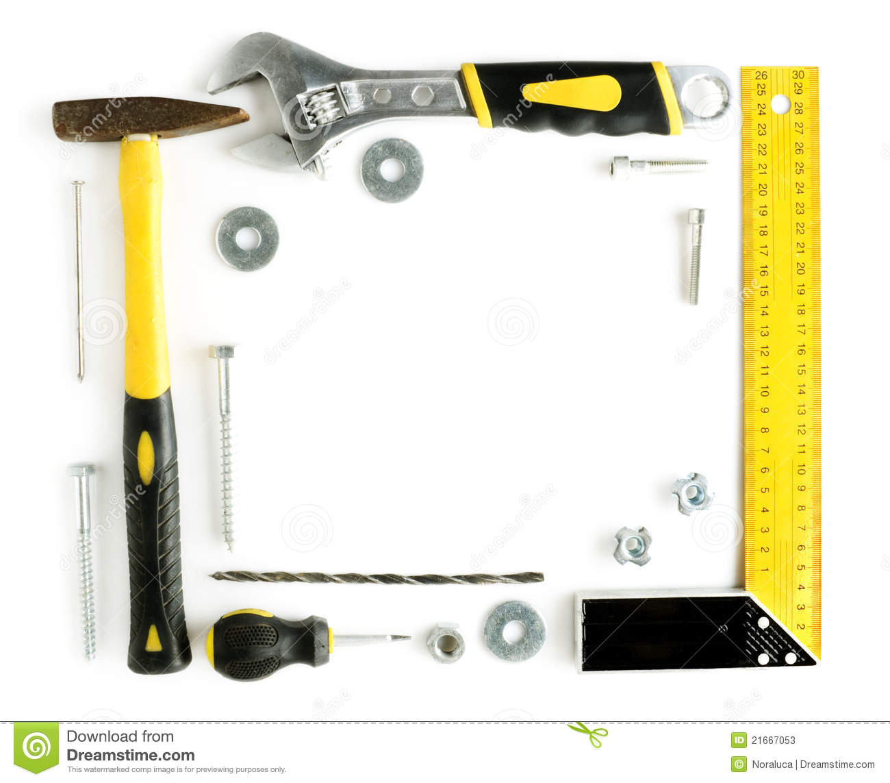 tools frame with copy space