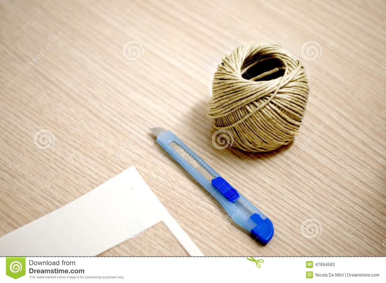 Tools For An Handmade Gift Stock Image Image Of Blue 47994583