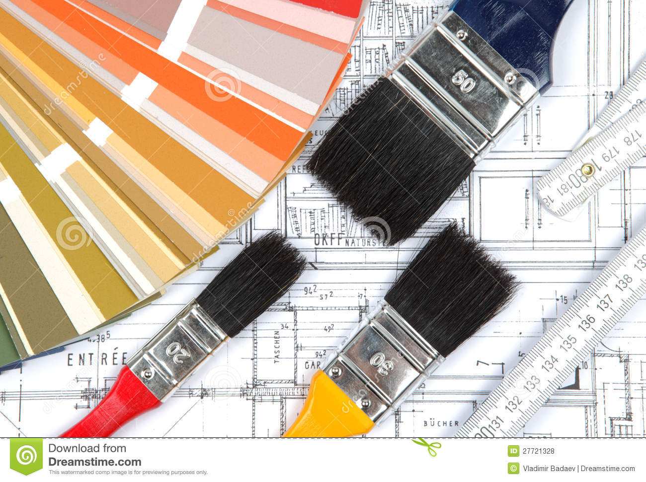 Tools for home renovation on architectural drawing stock for Renovation drawings