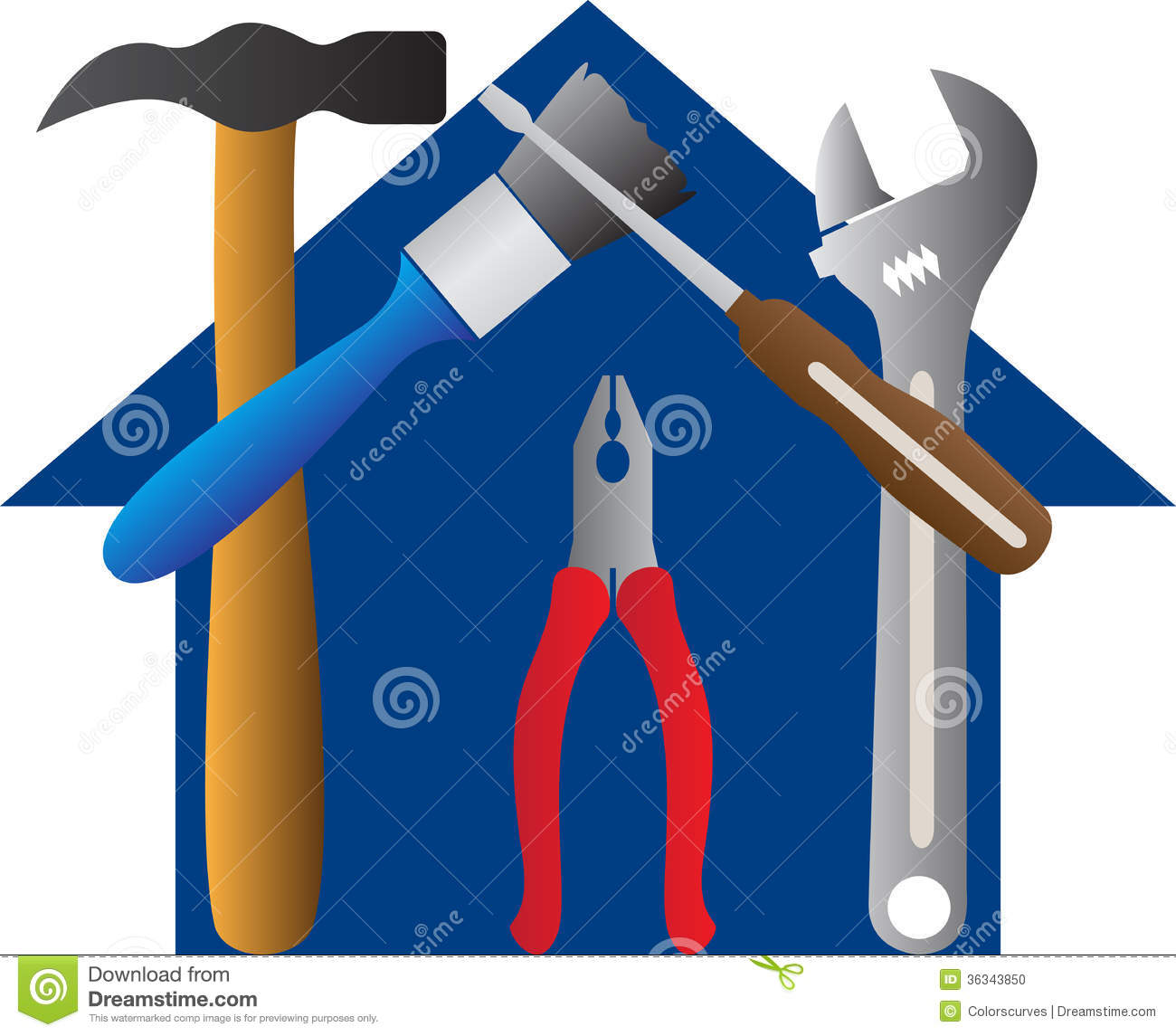 Tools home stock photo image 36343850 for Home architecture tools
