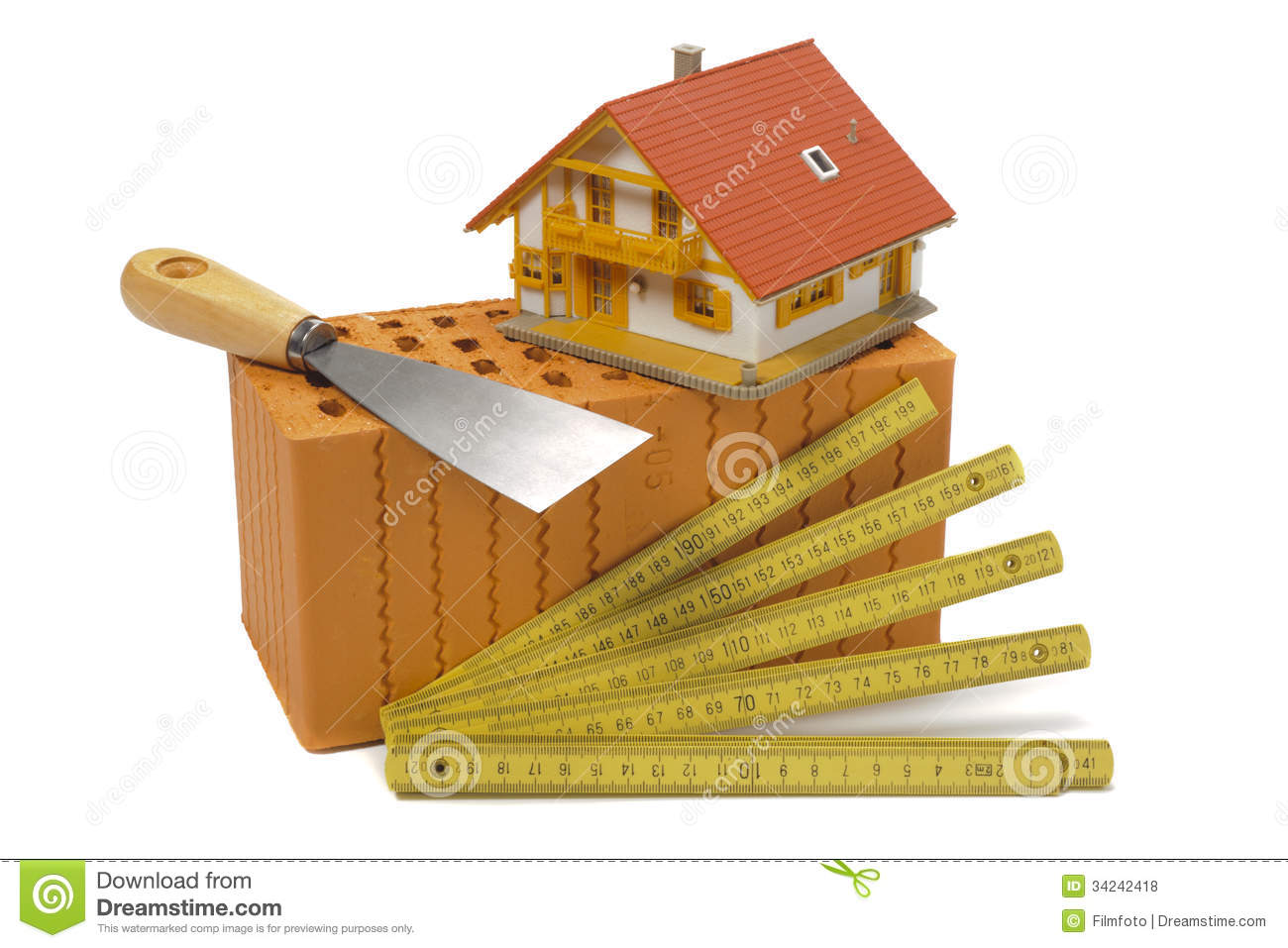 Tools for house construction royalty free stock photos Tools to build a house