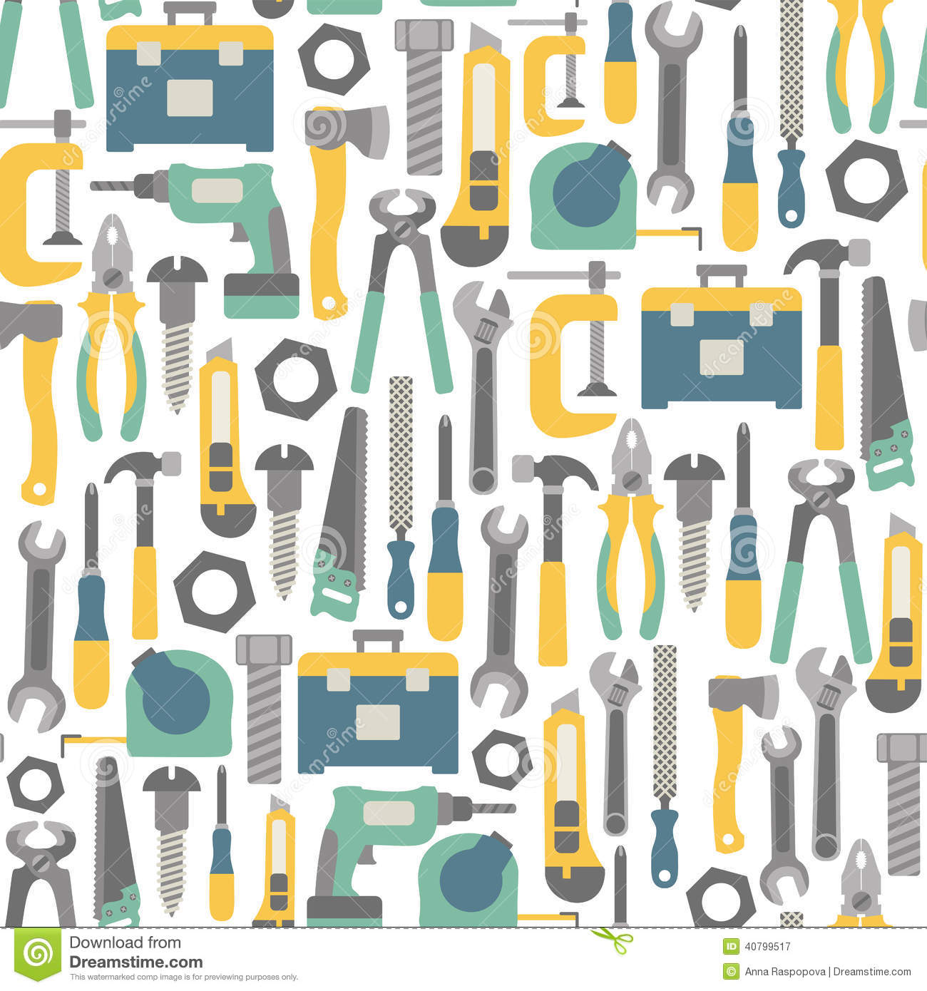 Tools Pattern Stock Photo Image 40799517