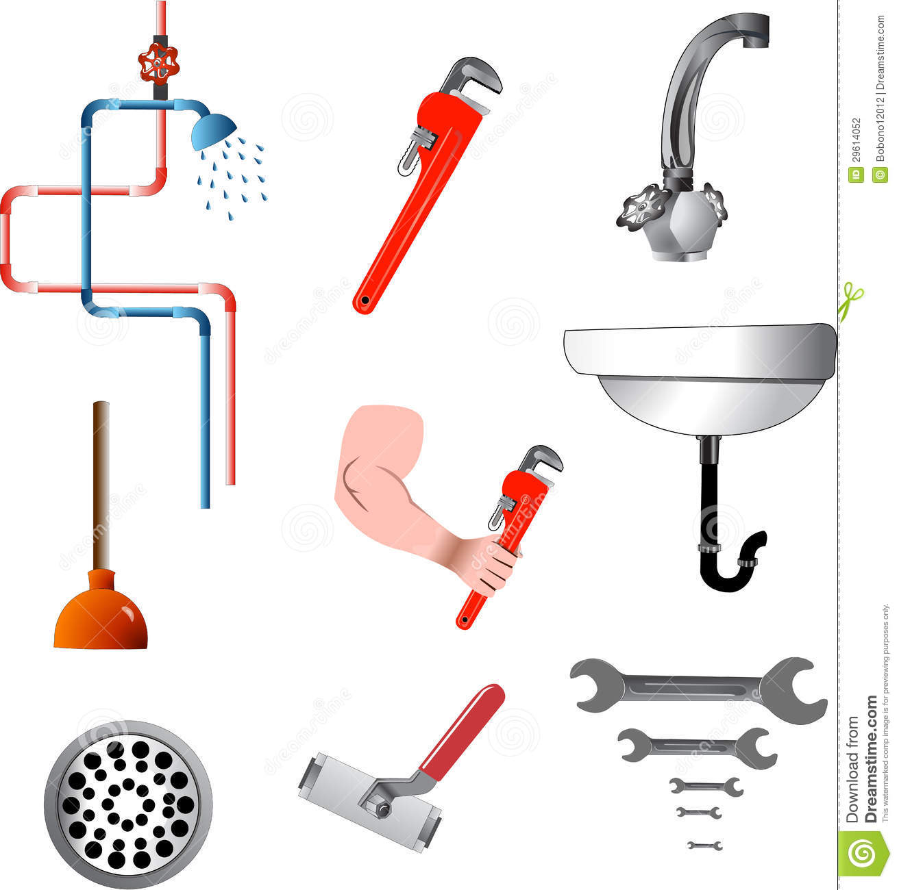 Tools And Plumbing Equipment Stock Photography - Image ...