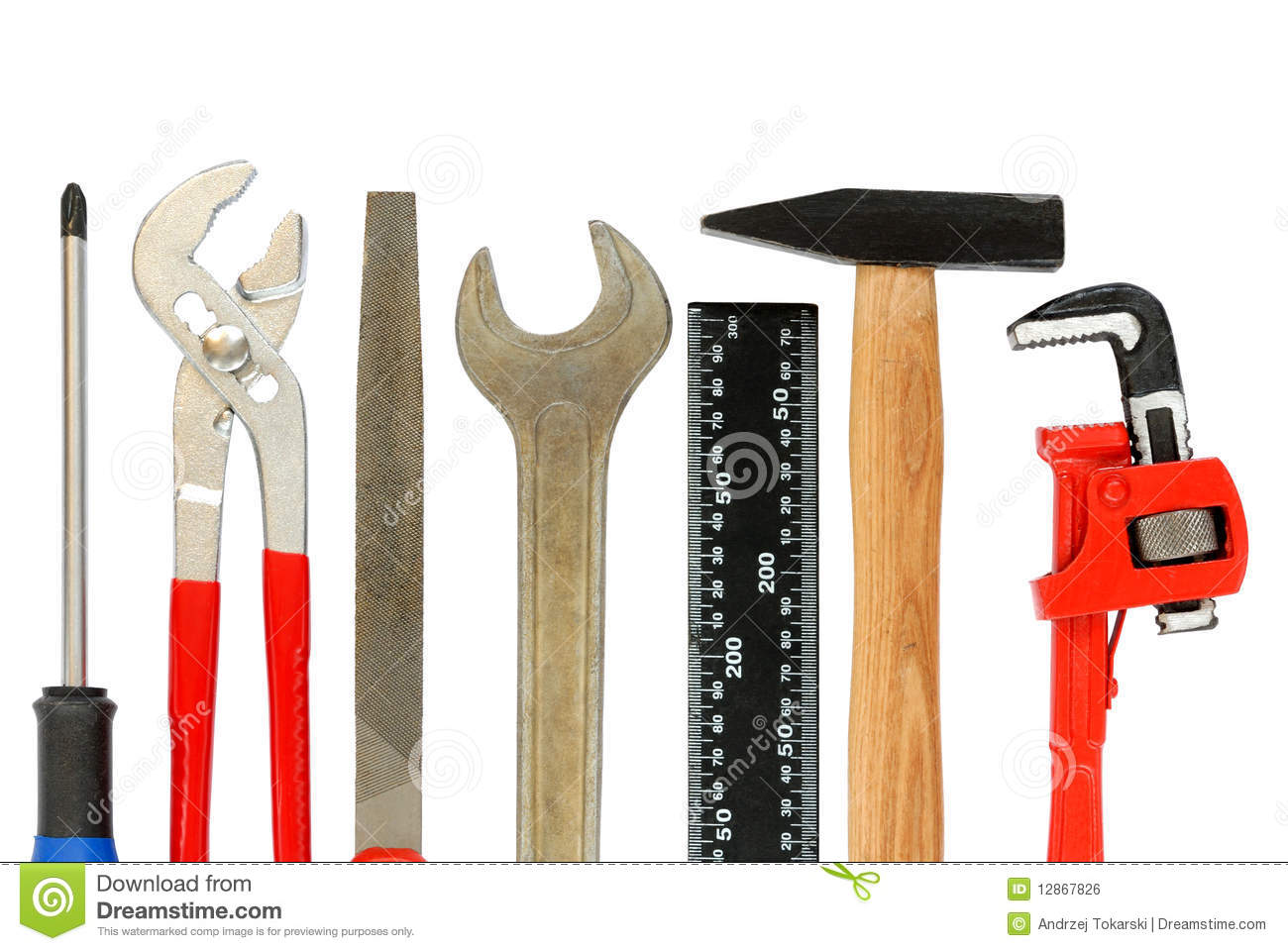 Tools Set Stock Photo Image Of Tool Isolated Wrench