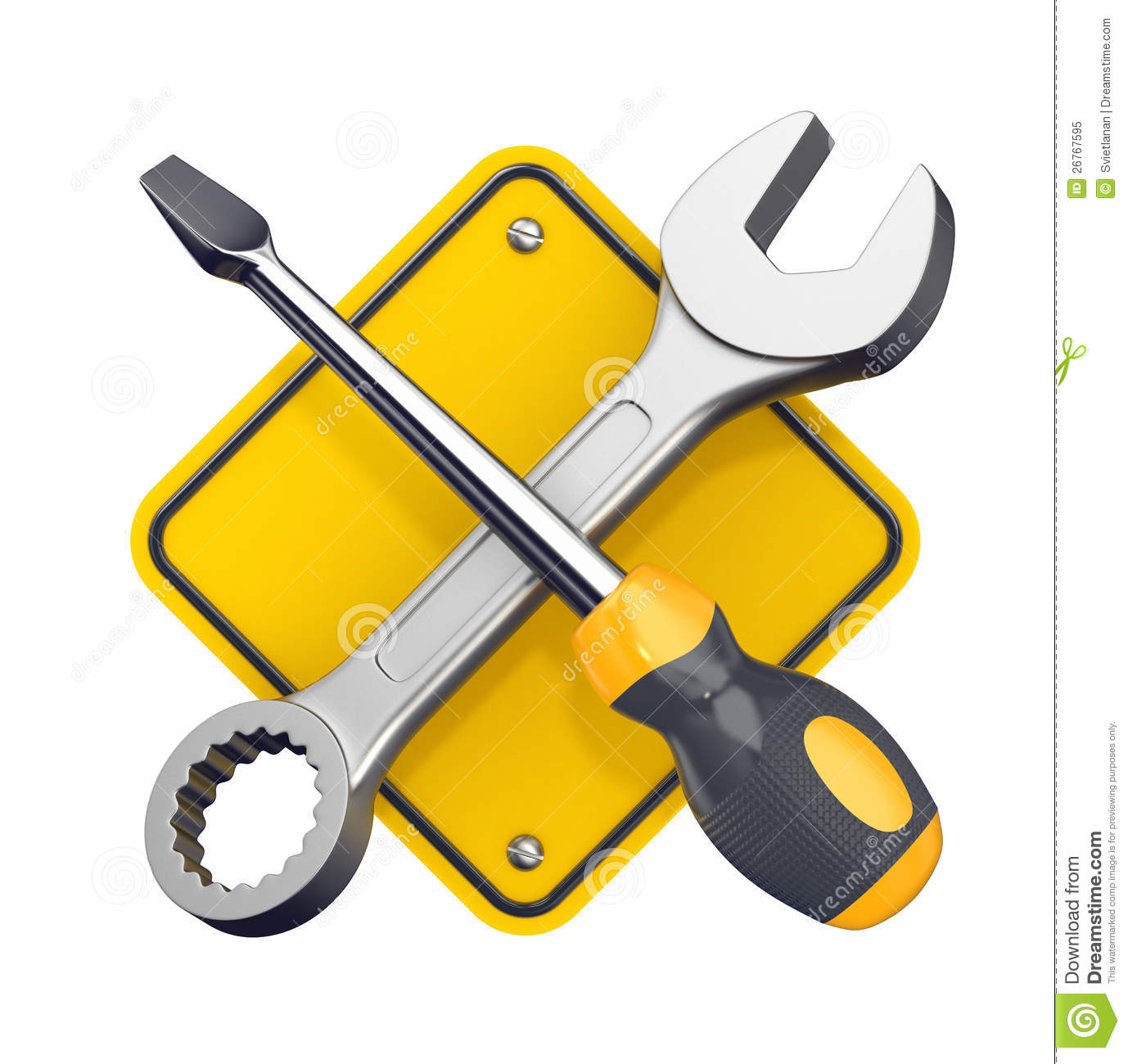Tools Sign. Royalty Free Stock Photo - Image: 26767595 Under Construction Signs