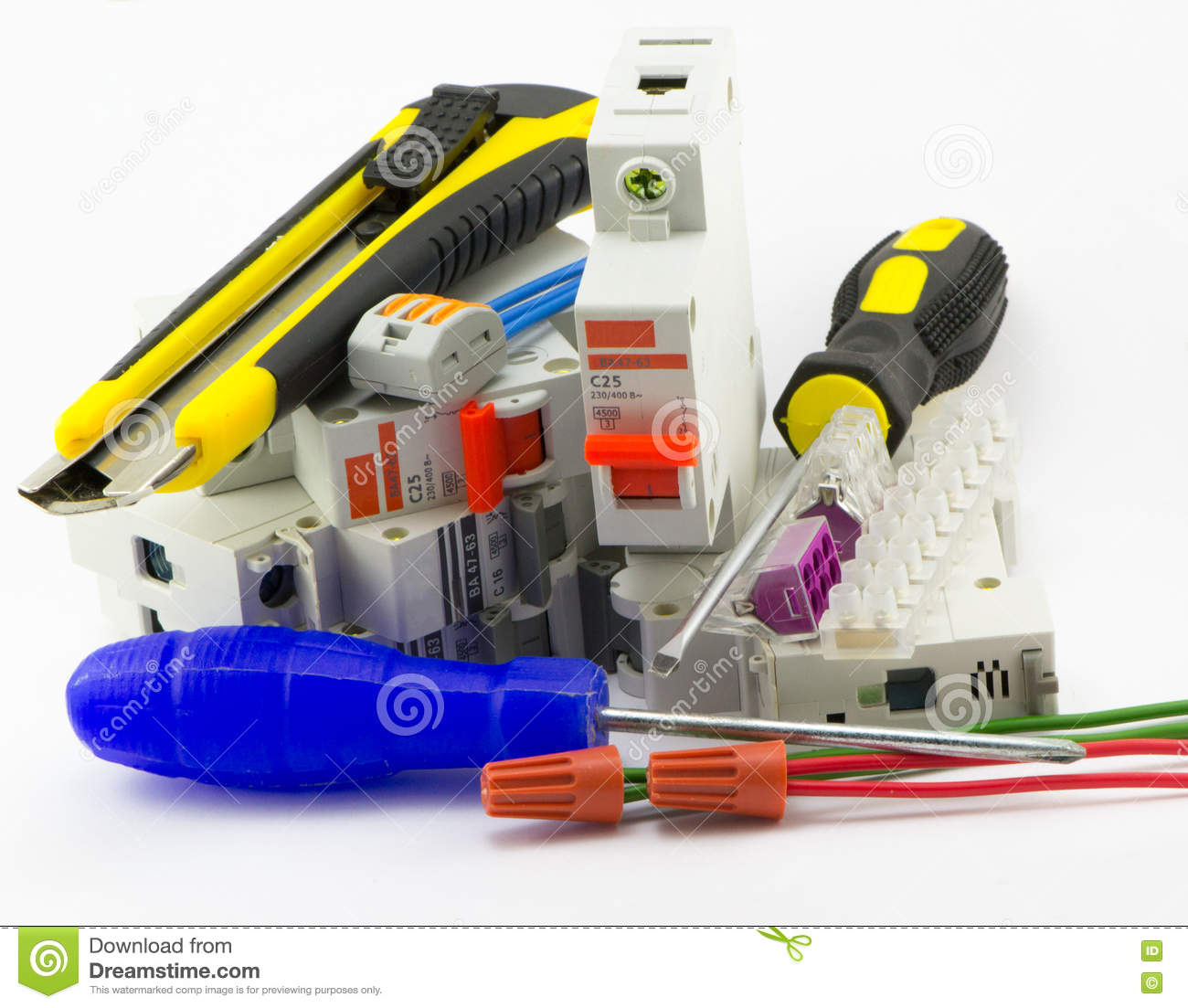 Tools and supplies electrician