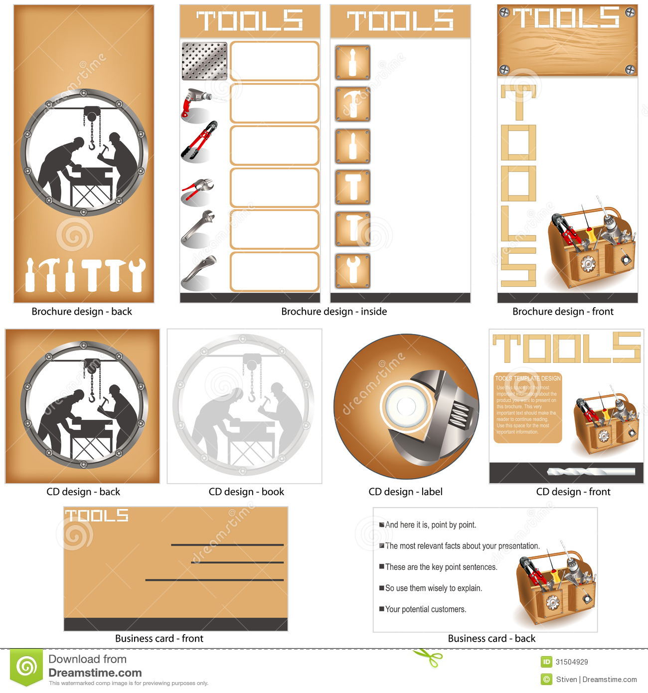 Tools template design royalty free stock images image for Brochure design tools