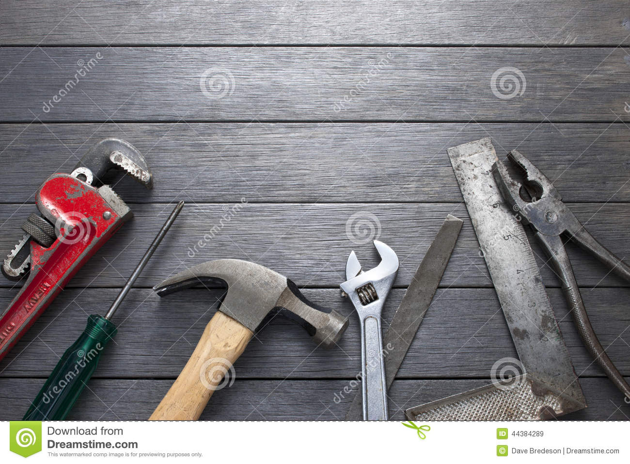 Tools Tool Wood Background Stock Image Image Of