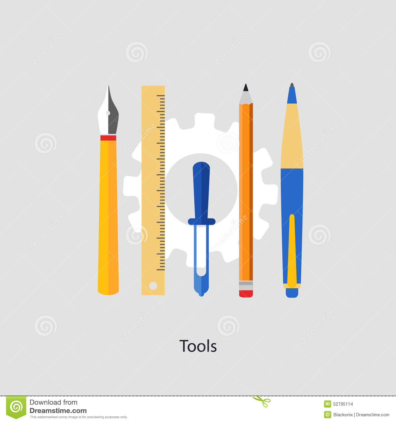 Tools stock illustration image 52795114 for Application design tools