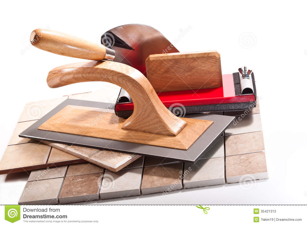 Tools For Working With Ceramic Tiles Stock Image