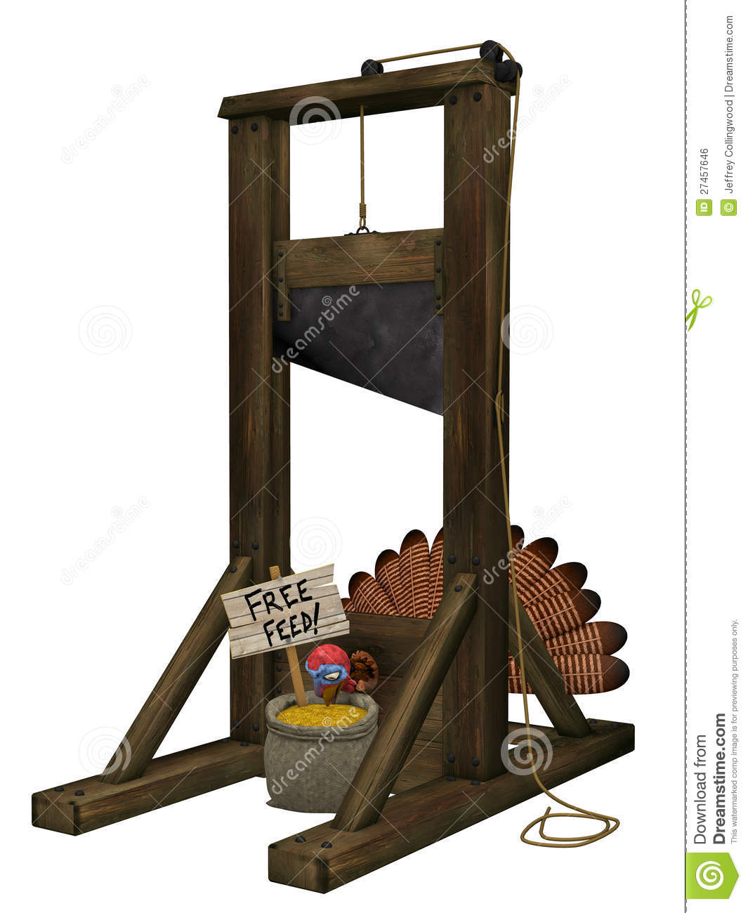 turkey tricked into putting his head into a guillotine with free ...