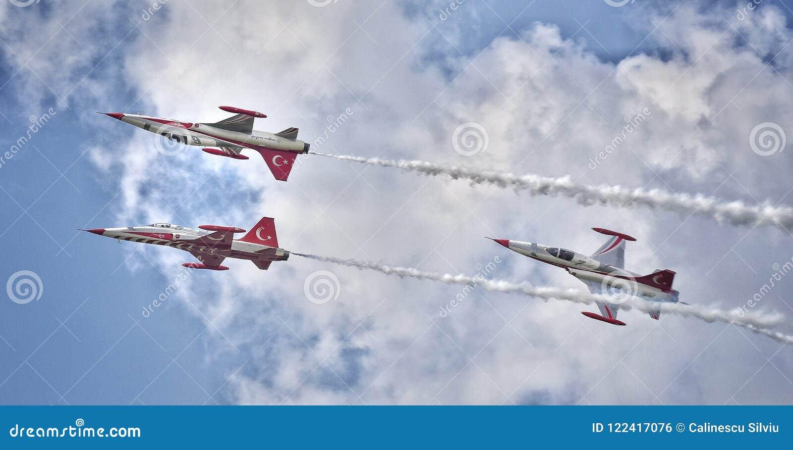 Toont de Internationale Lucht van Boekarest BIAS 2018