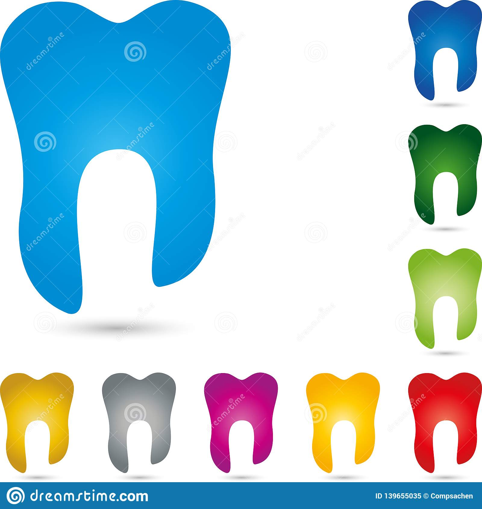 Tooth In Blue Teeth Collection Dentistry Logo Tooth And Dental Care Logo Tooth Icon Stock Vector Illustration Of Clinic Crowns 139655035