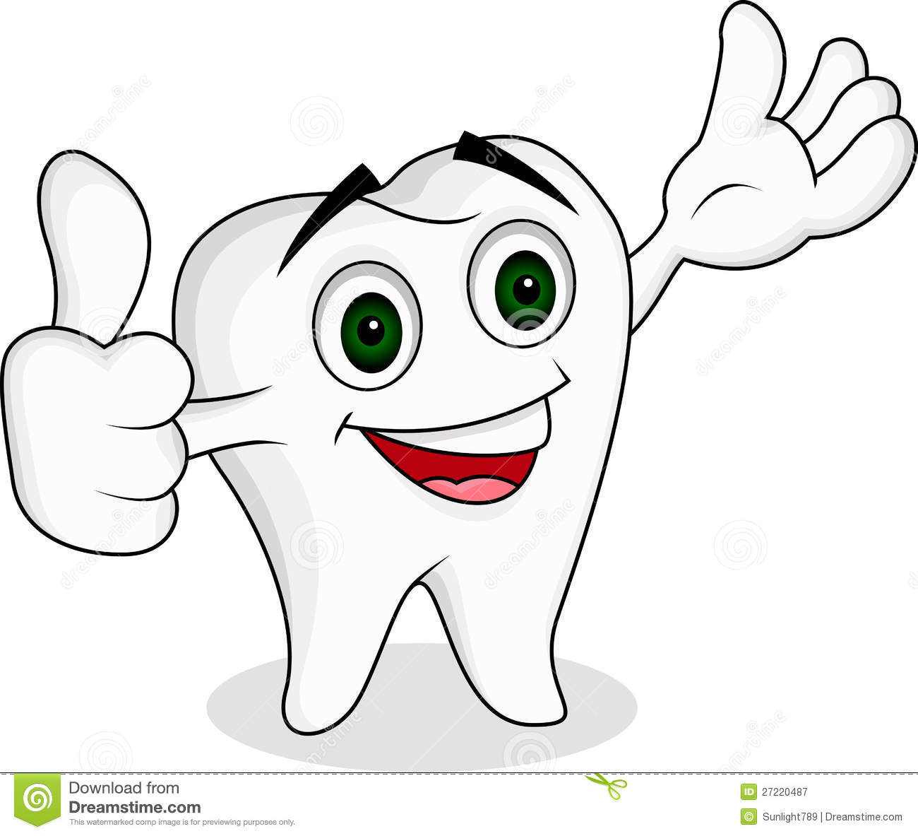 1 Toothed Cartoon Characters : Tooth cartoon character stock illustration