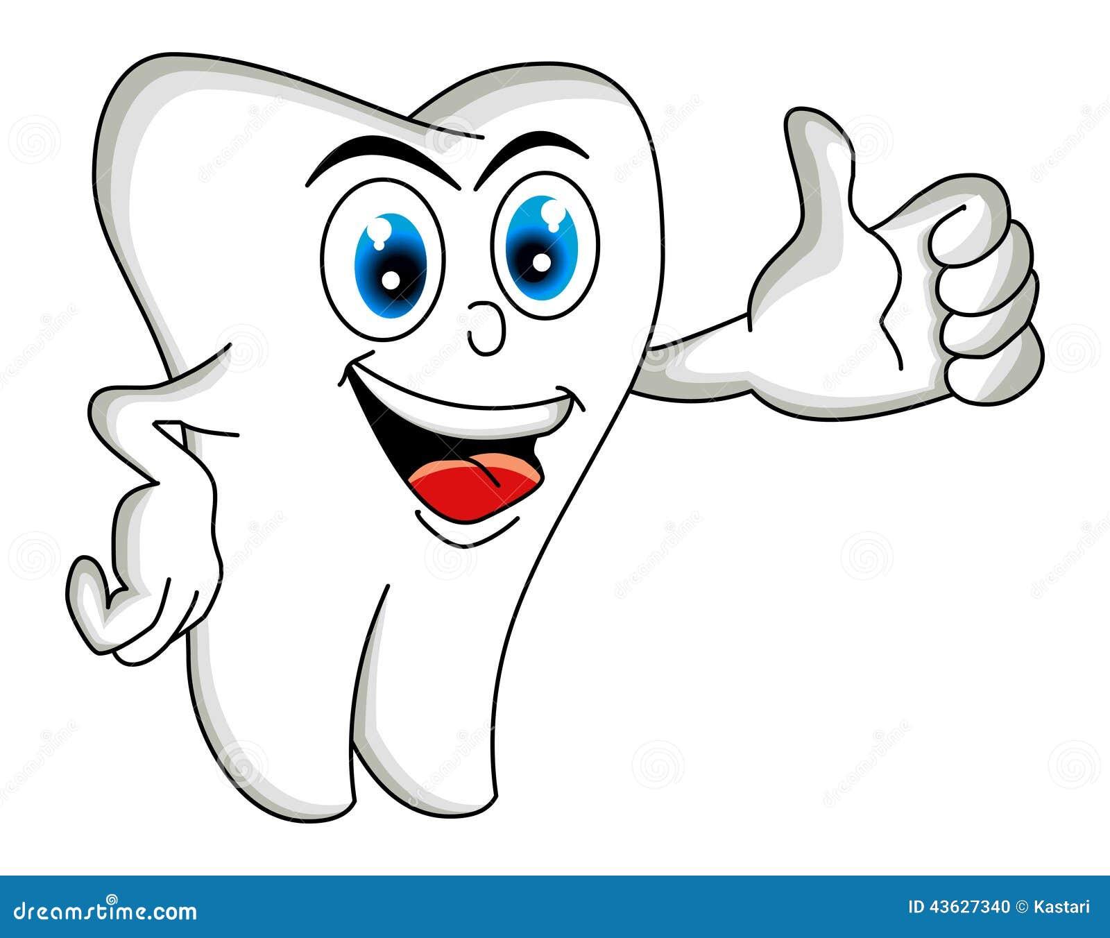 Tooth Cartoon stock illustration. Illustration of colors ...