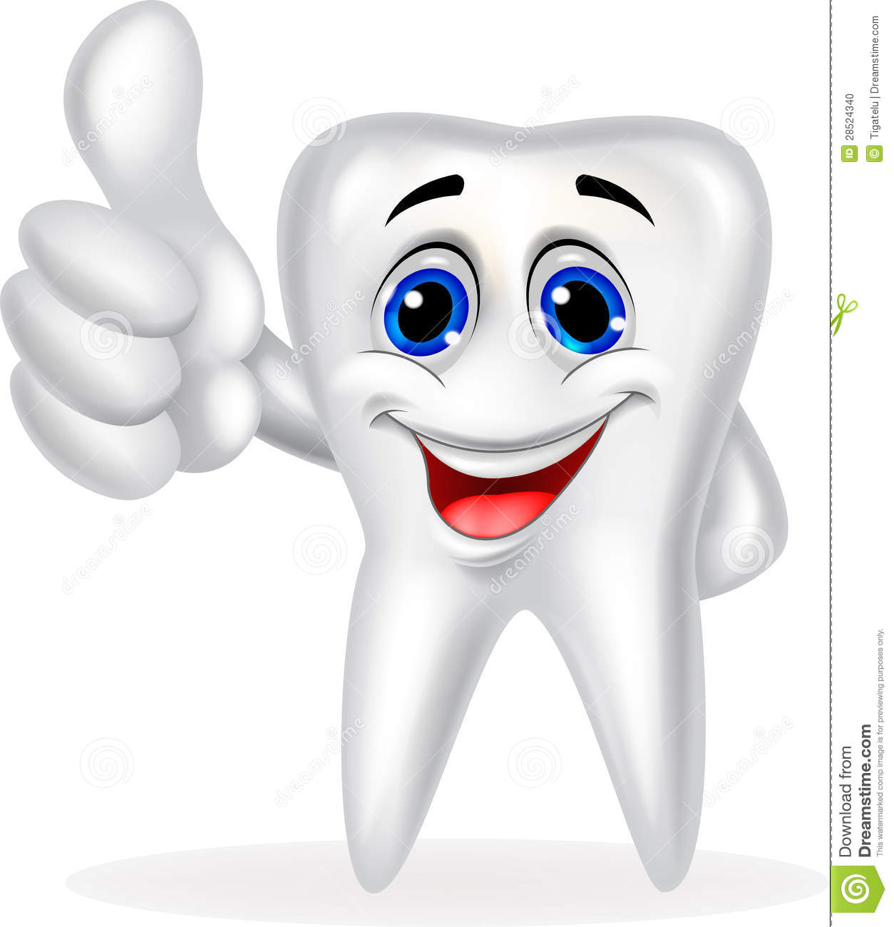 Tooth Cartoon With Thumb Up Stock Photo - Image: 28524340