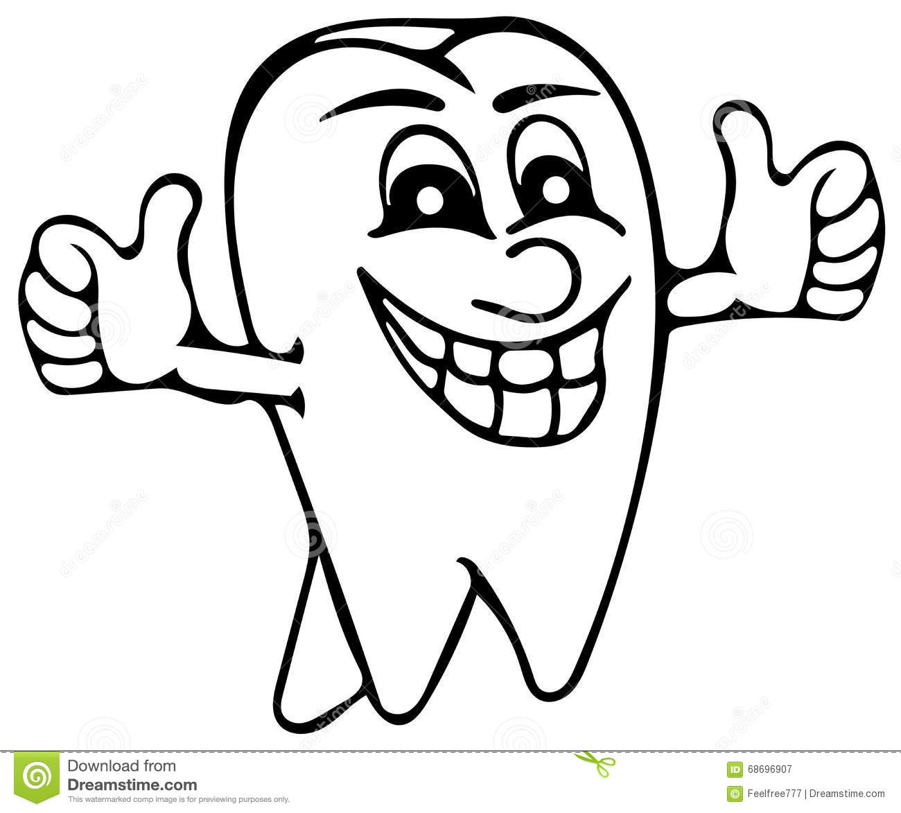 Tooth coloring pages stock illustration. Illustration of ...