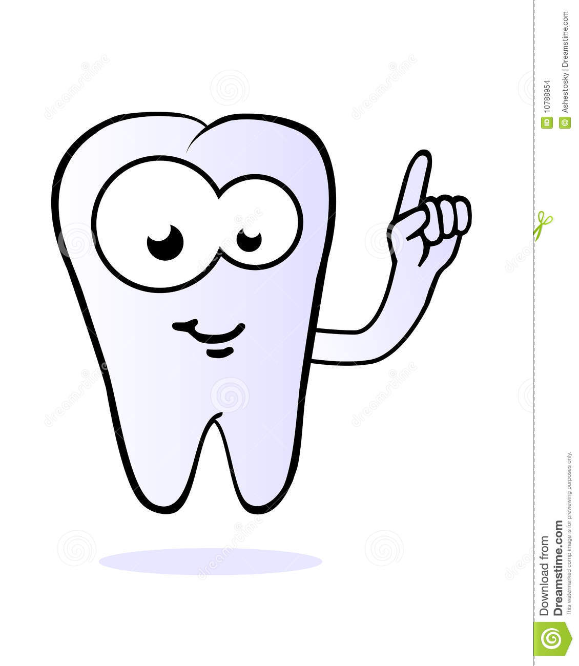 ... eyes and pointing finger in the air, related to dental care for kids