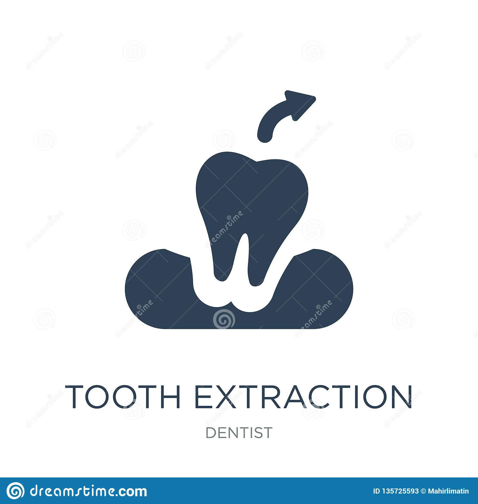 Tooth Extraction Icon In Trendy Design Style Tooth Extraction Icon Isolated On White Background Tooth Extraction Vector Icon Stock Vector Illustration Of Care Equipment 135725593