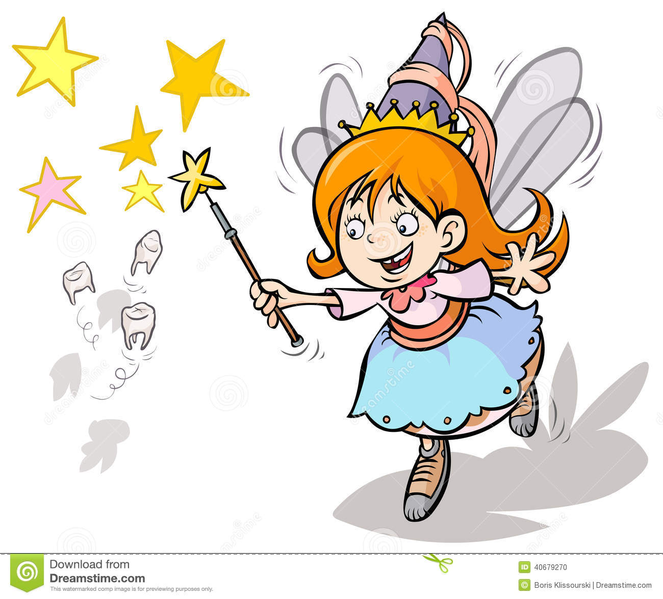 1 Toothed Cartoon Characters : Tooth fairy stock vector image