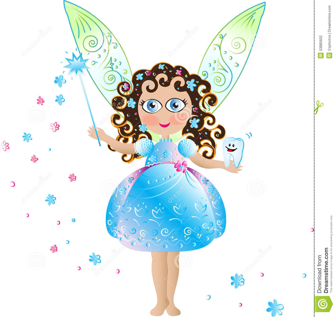 Tooth Fairy Stock Vector Image 53885602