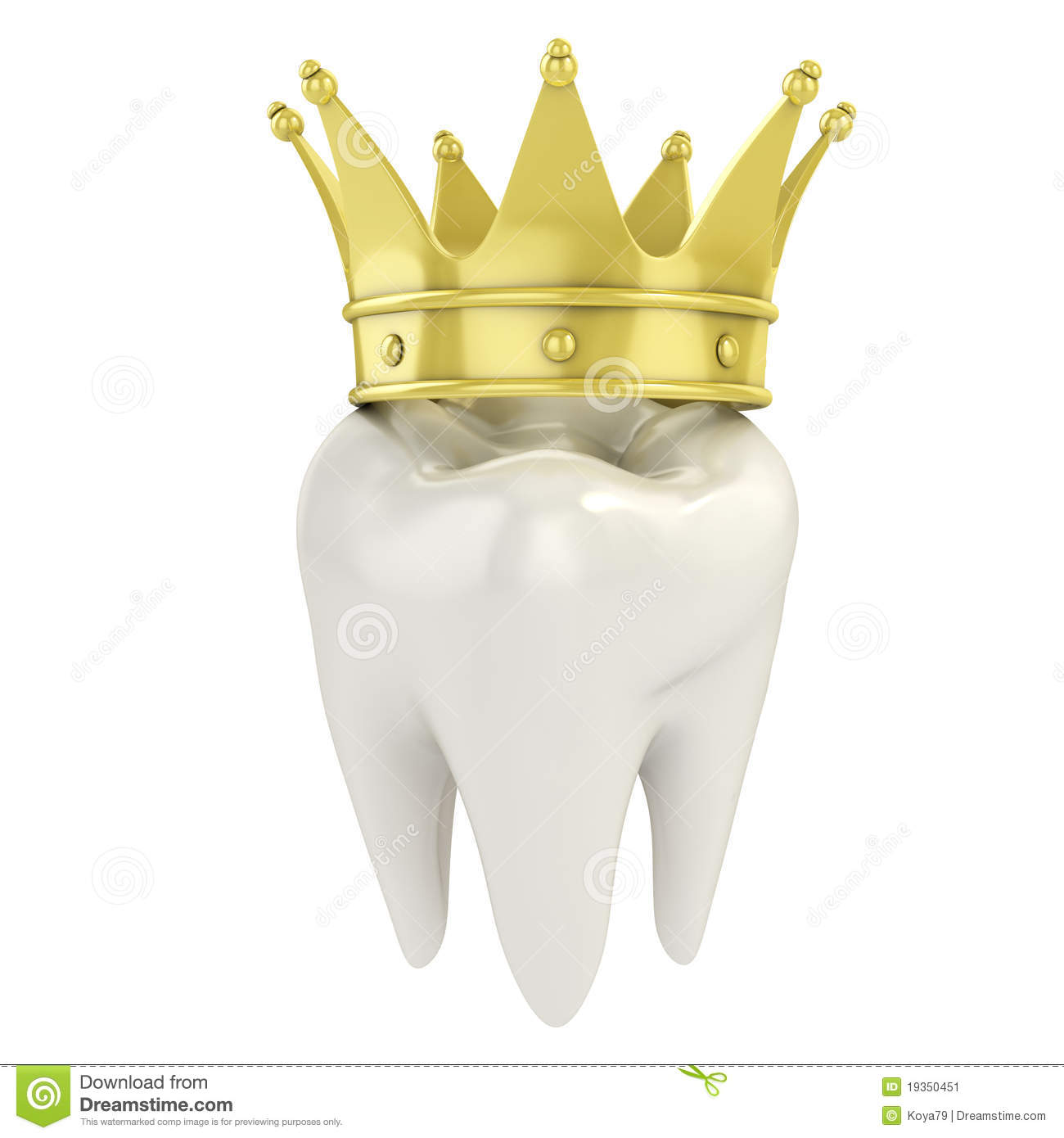 Tooth With Golden Crown Stock Image Image 19350451