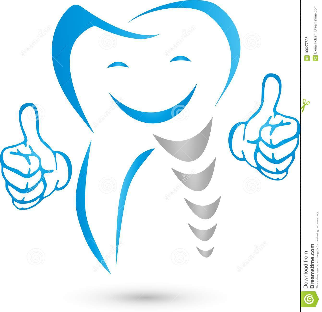 Tooth With Hands And Smile Teeth And Dentist Logo Stock Vector Illustration Of Holding Crowns 106277536