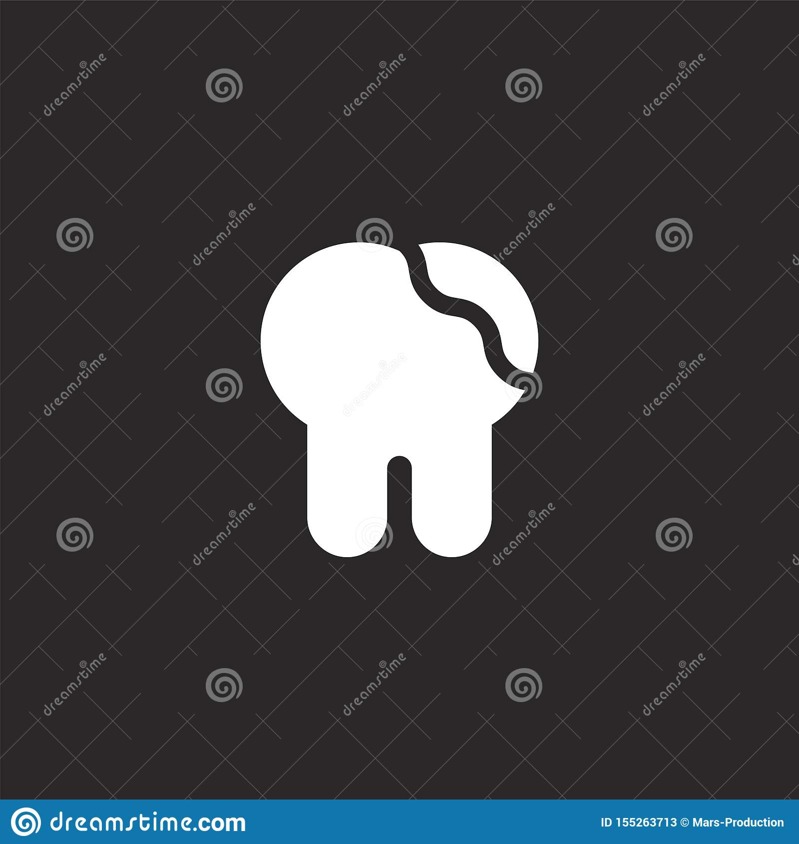 Tooth Icon. Filled Tooth Icon For Website Design And
