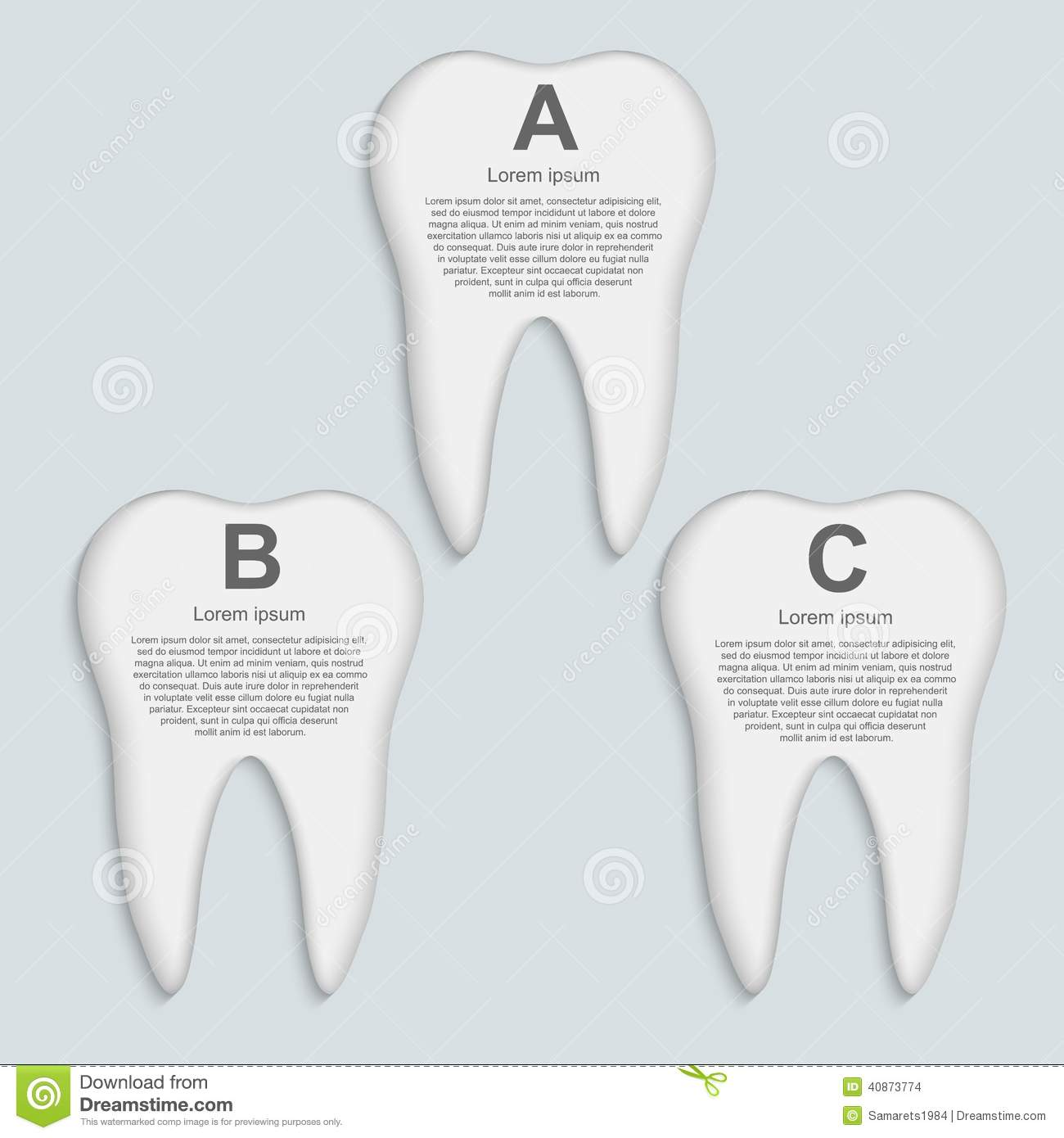 Tooth Infographic. Design Template. Stock Vector - Image: 40873774