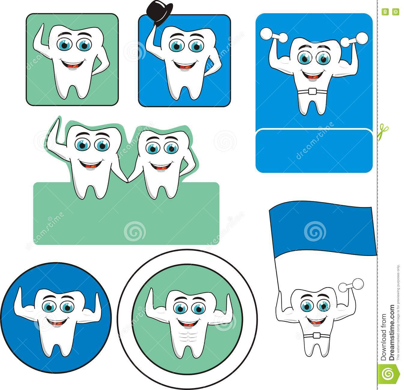 Tooth Logo Stock Vector. Illustration Of Element, Curve