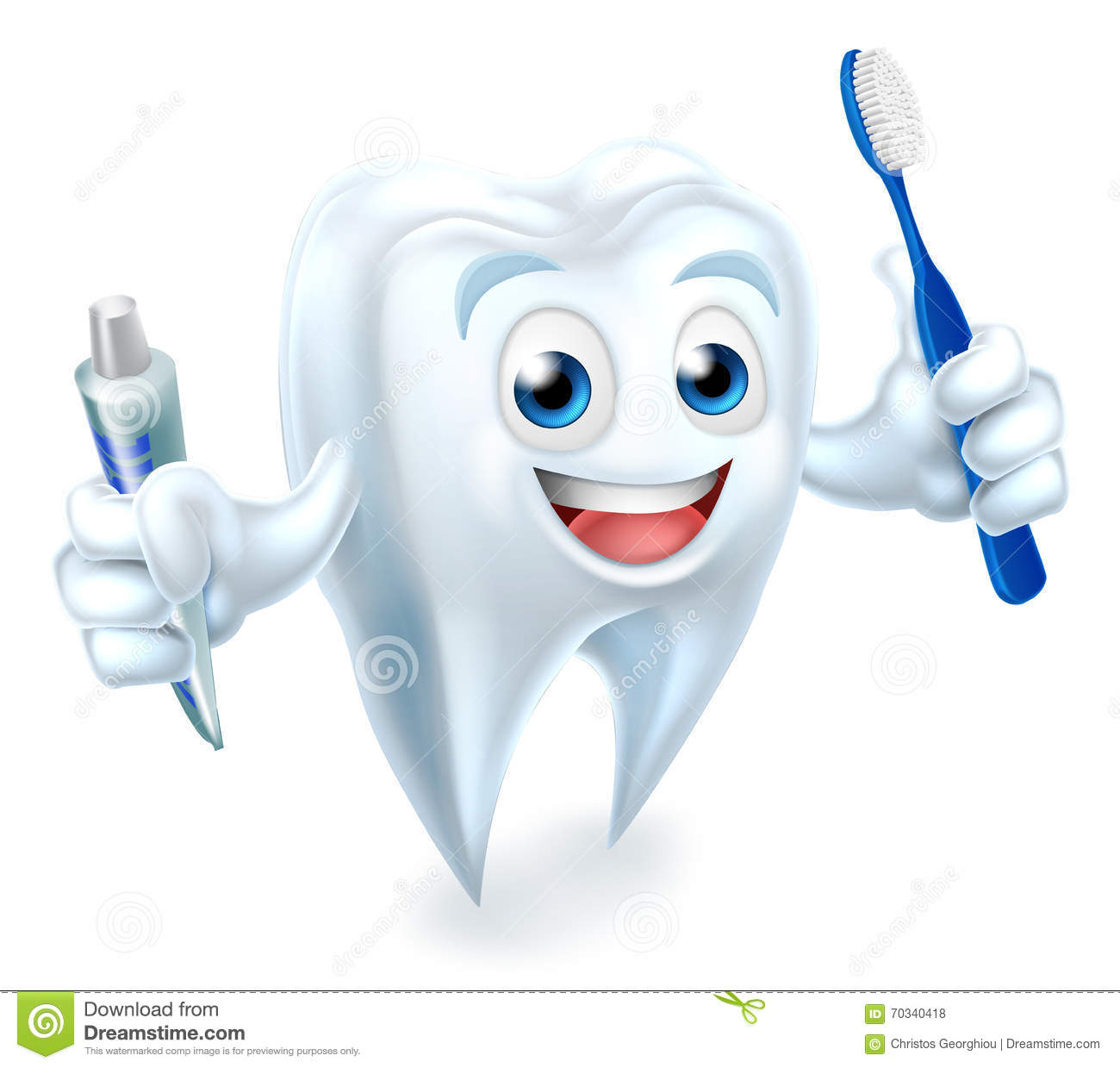 1 Toothed Cartoon Characters : Tooth mascot stock vector image
