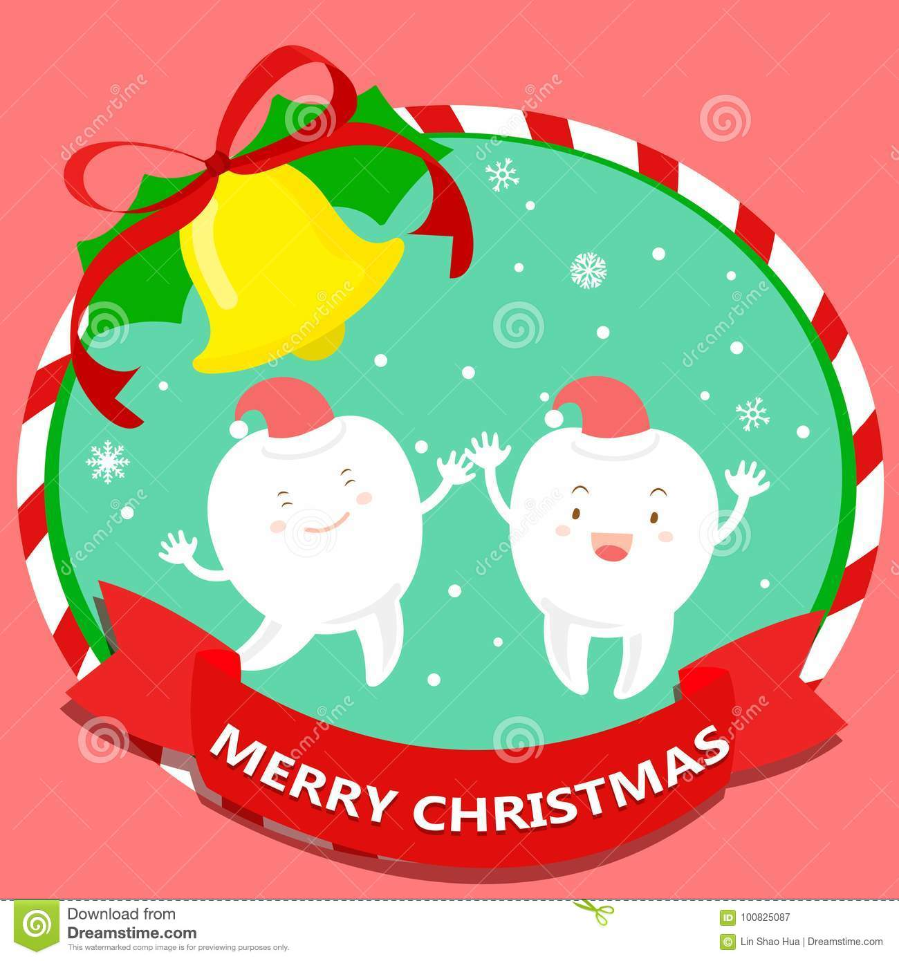 Tooth with merry christmas stock illustration. Illustration of ...
