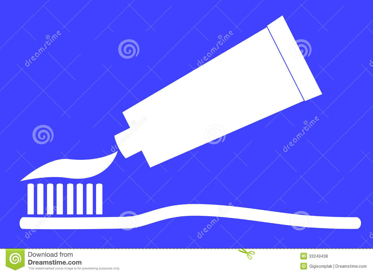 Home decorating bathroom - Toothpaste Silhouette Tooth Paste And Tooth Brush Royalty Free Stock