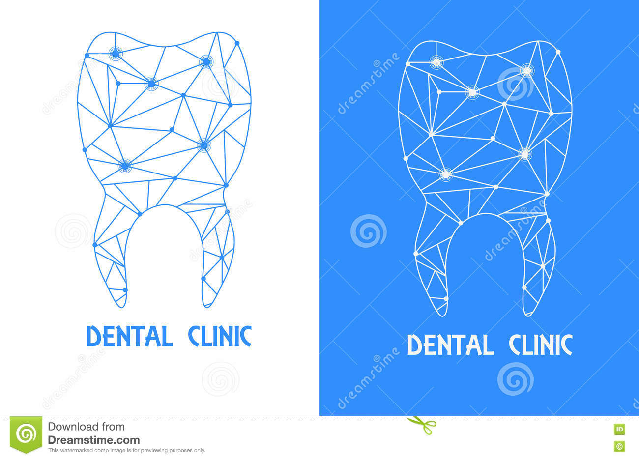 Tooth Polygon Outline Logo Stock Vector Illustration Of Dentist