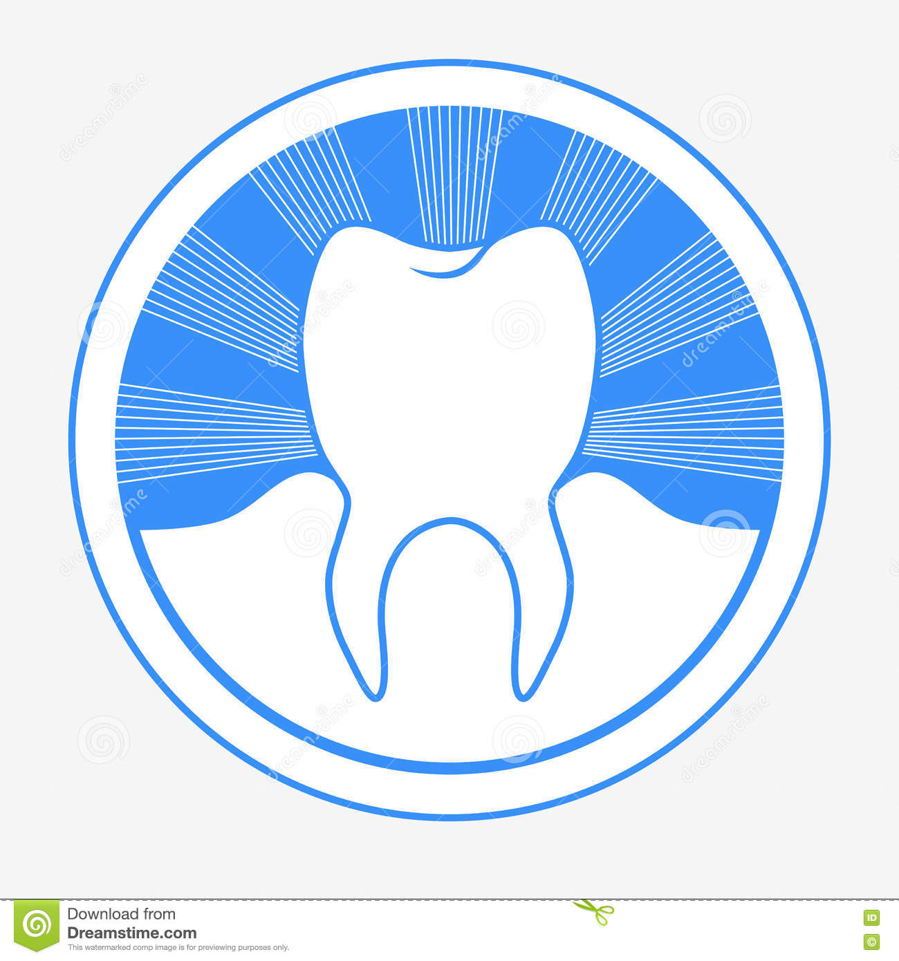 Tooth Round Logo Stock Vector Illustration Of Circle 79673981