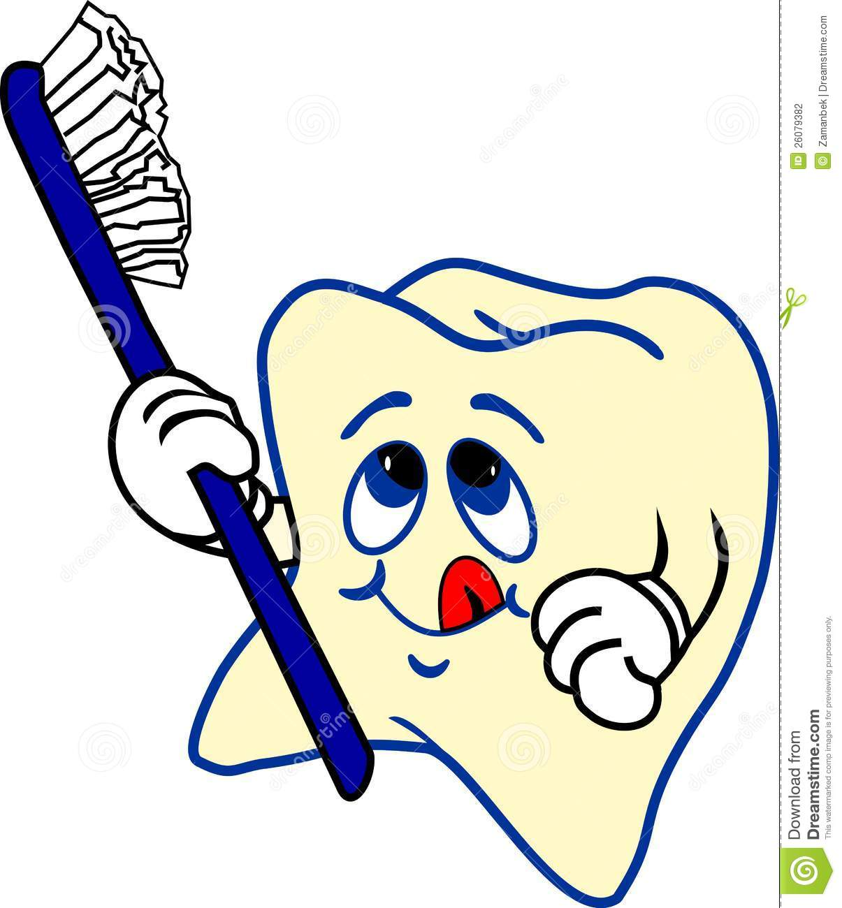 tooth and toothbrush stock photography