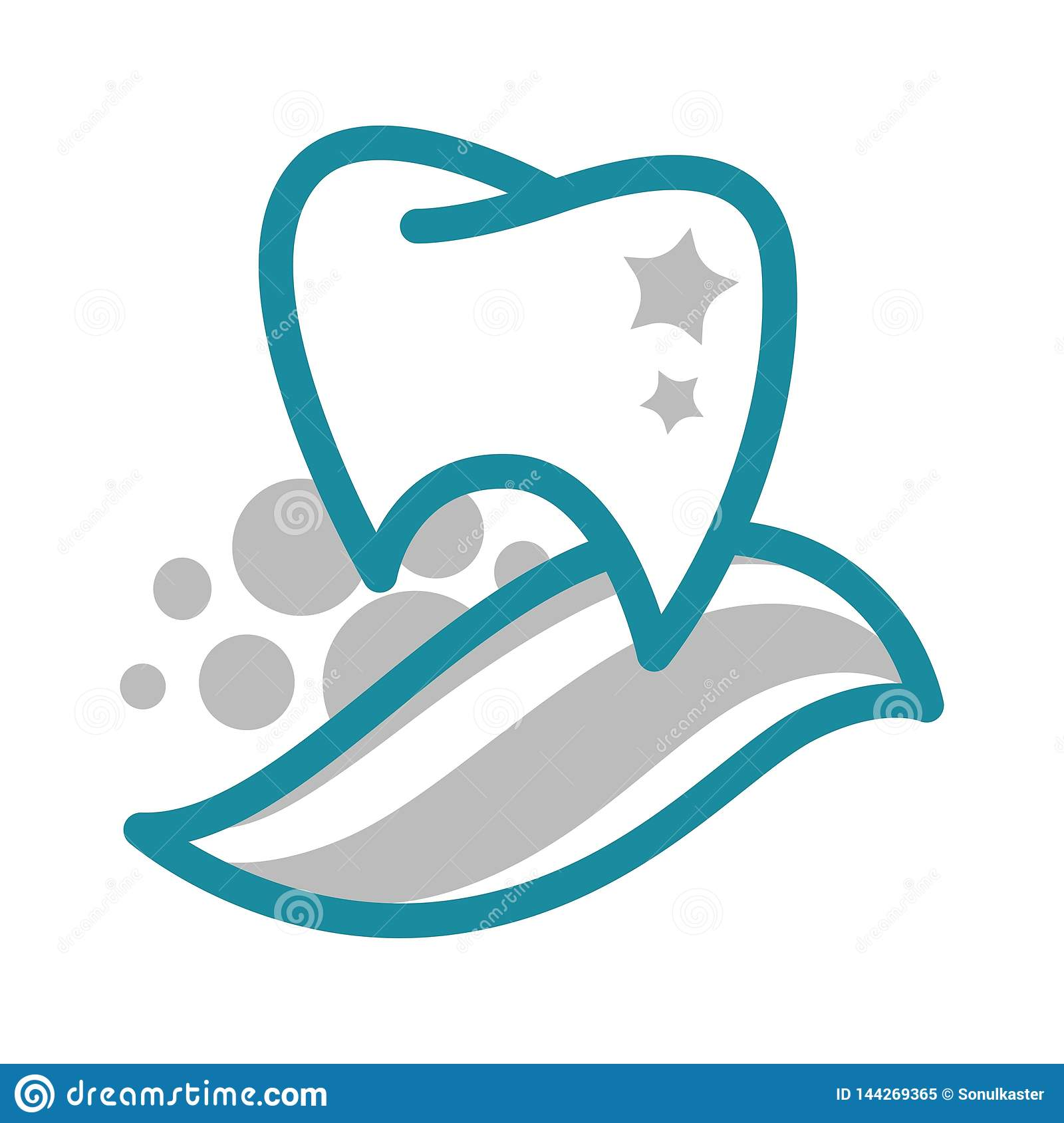 Tooth And Toothpaste Dentistry And Dental Clinic Isolated