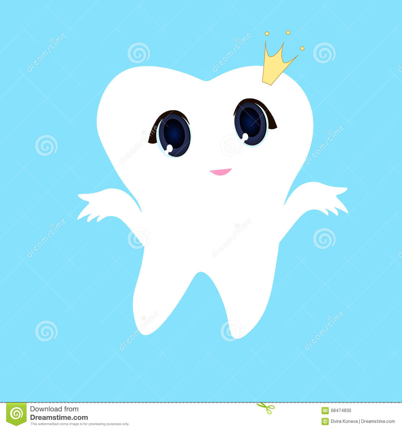 tooth white blue background teeth vector icon