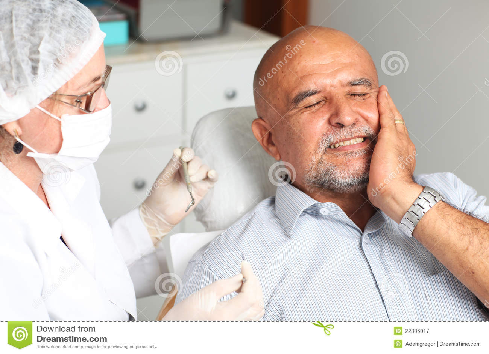Toothache человека дантиста