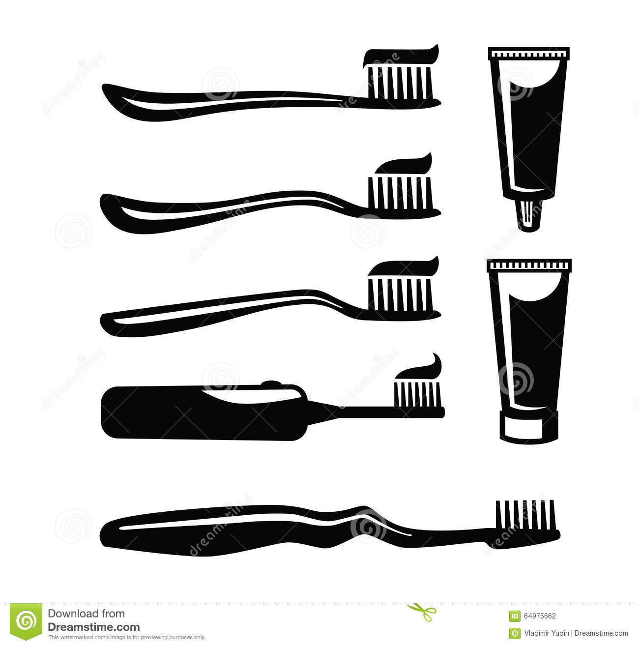 Toothbrush With Paste Vector Stock Vector - Image: 64975662