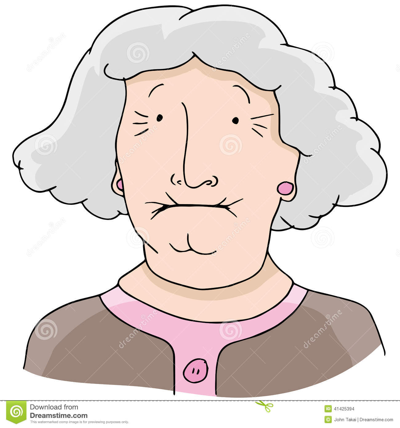 Stock illustrations senior citizen lady with a sign stock clipart - Toothless Old Woman Stock Vector Image 41425394