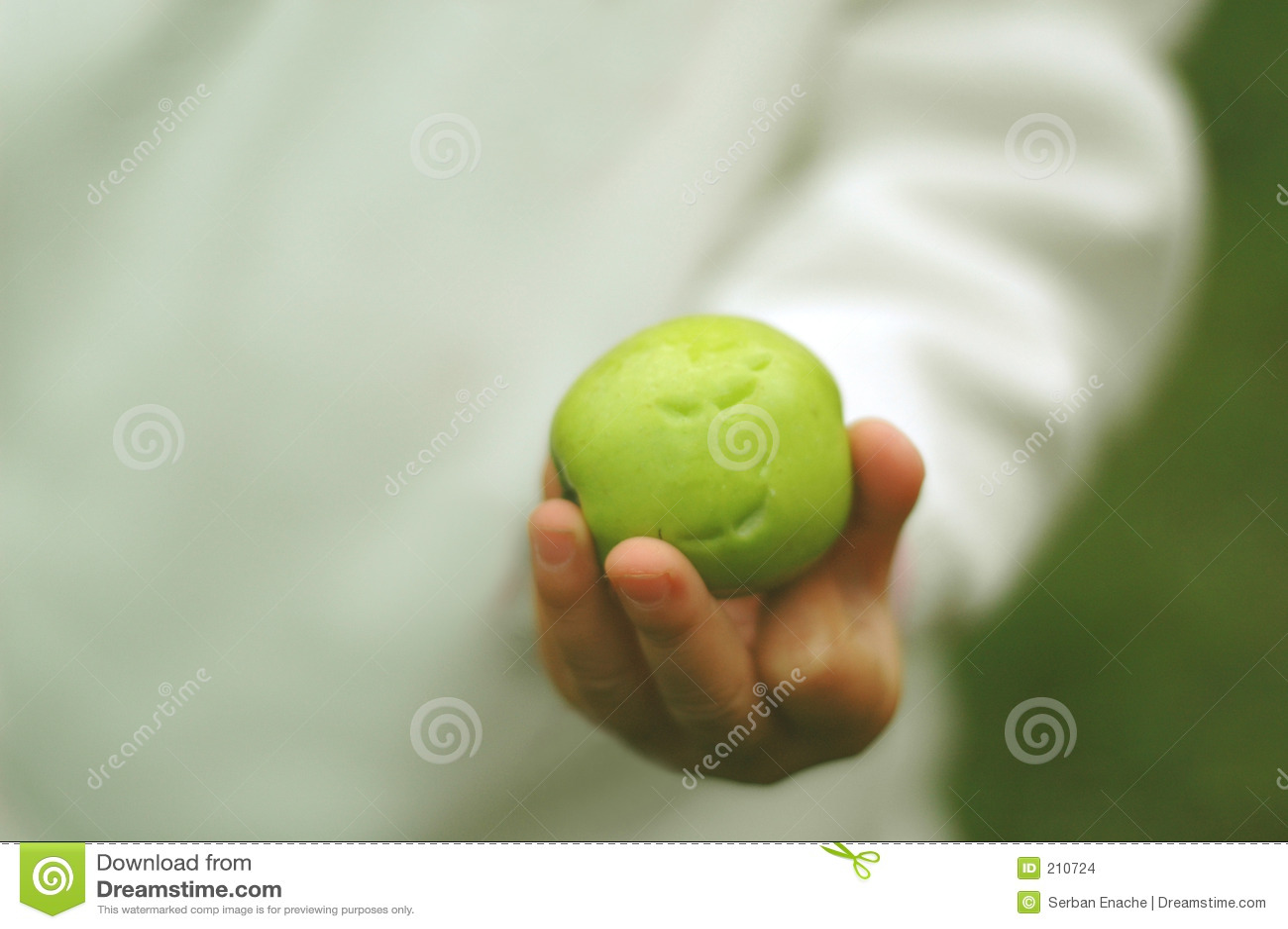 Toothmarks op groene appel