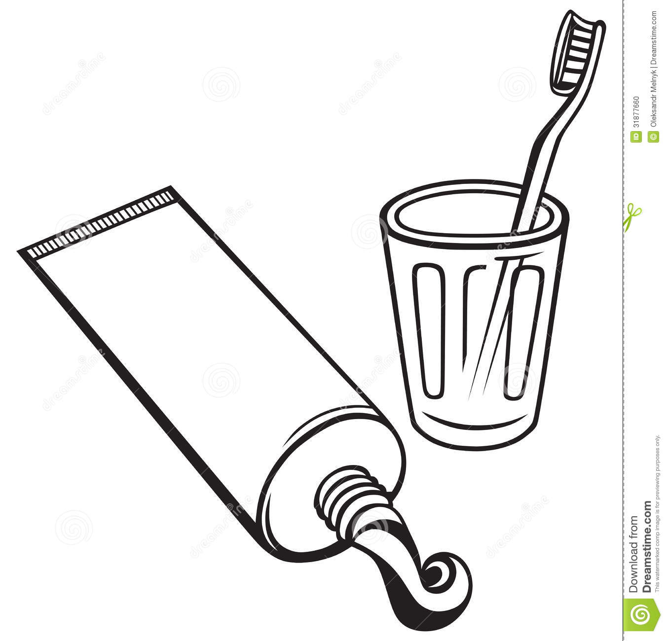 toothbrush clipart black and white - photo #7