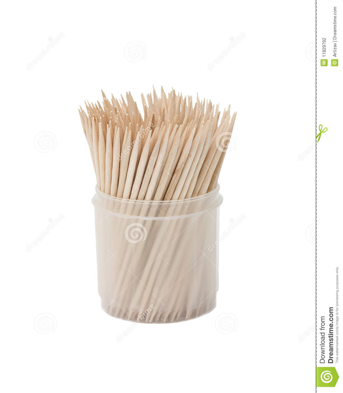 Toothpicks In Box Stock Photography - Image: 11829792
