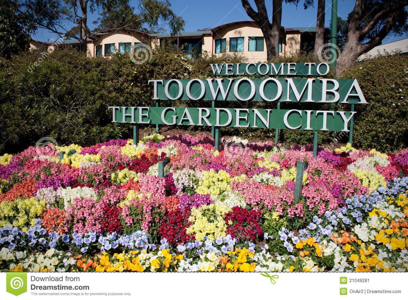 Toowoomba The Garden City Flowers Stock Image Image