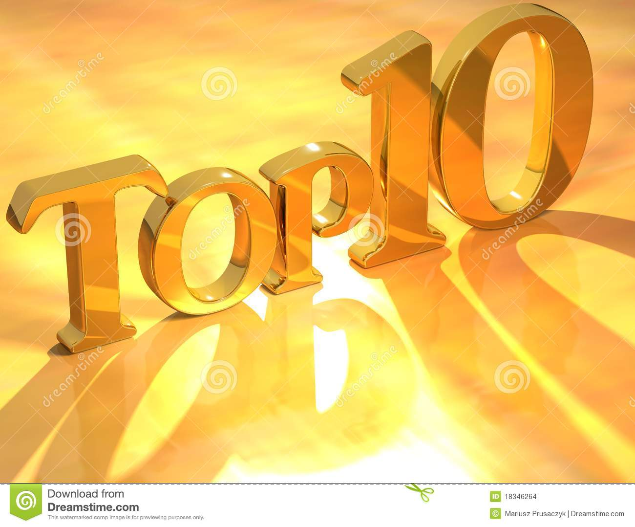 Top 10 Gold Text Stock Illustration. Image Of Letter