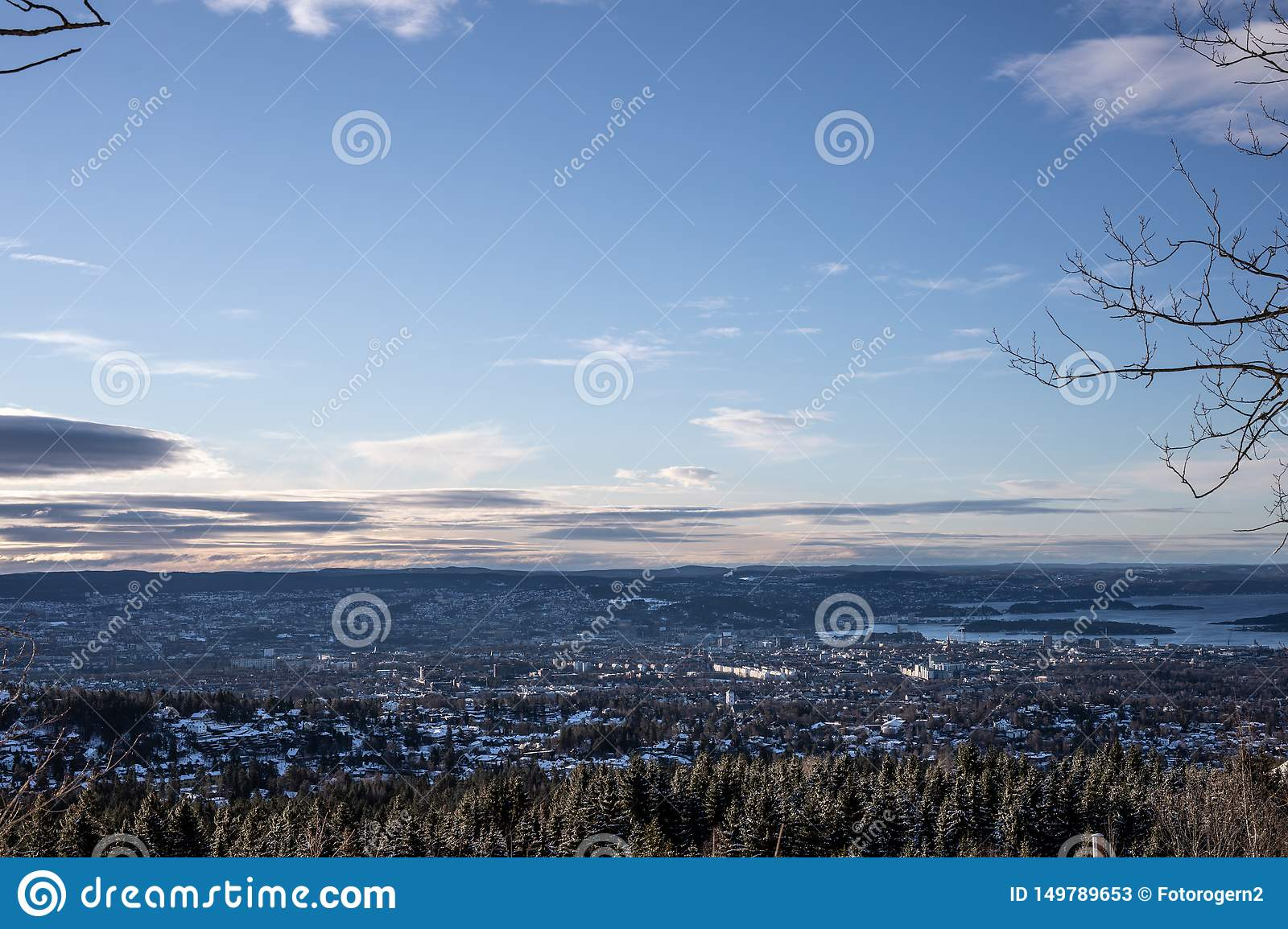 A view over Oslo Norway