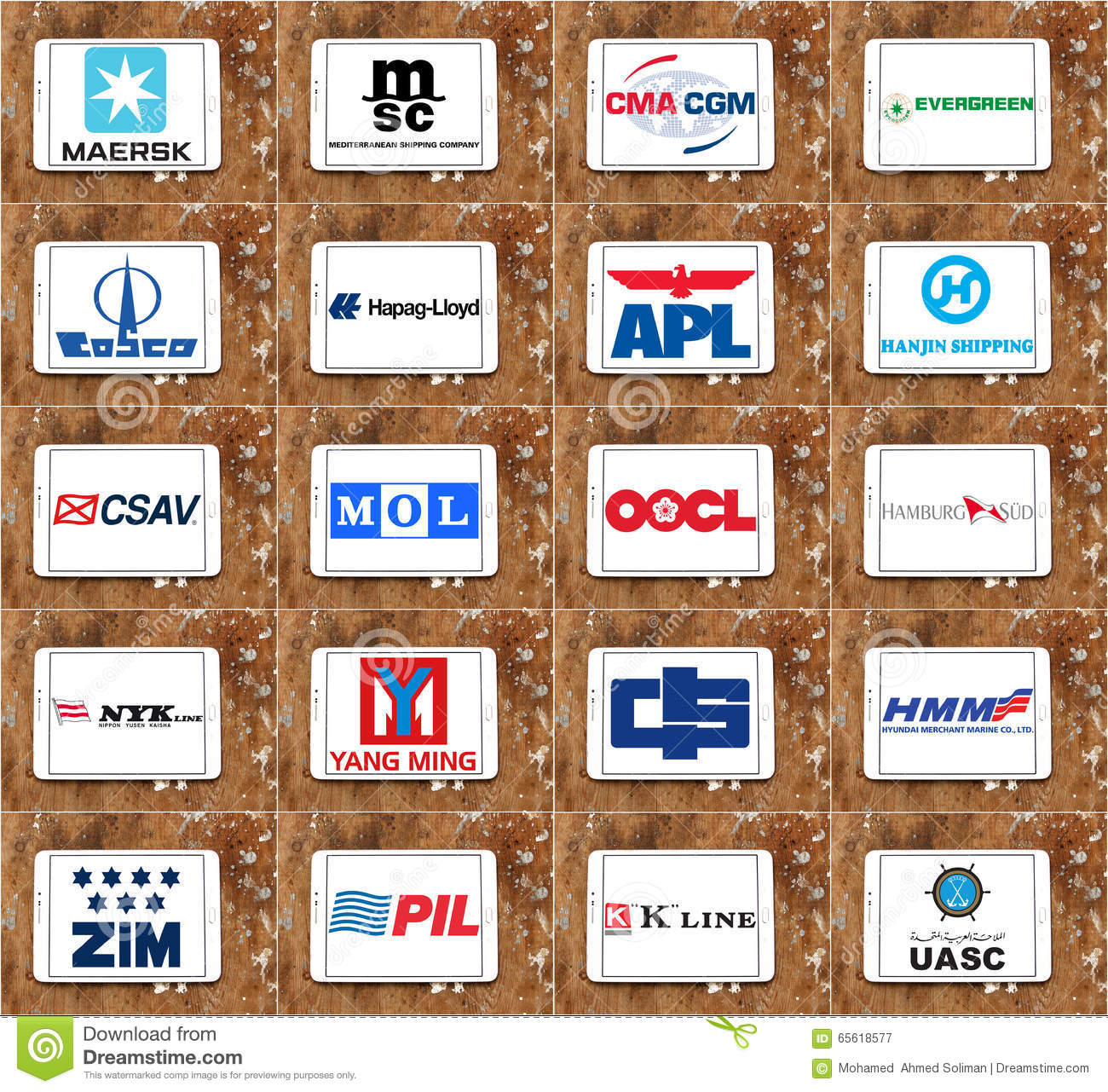 Top Biggest Container Shipping Companies Logos And Vector