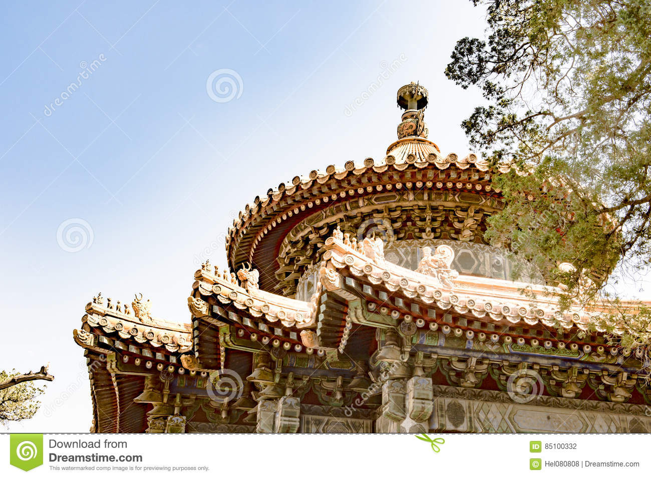 Top of Chinese Temple