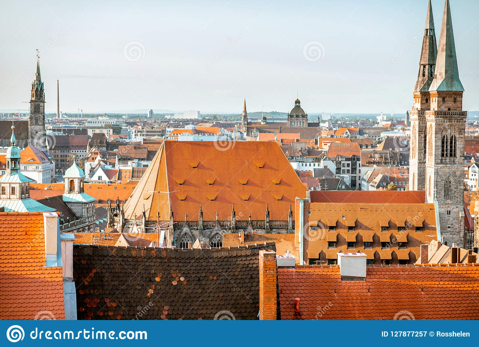 Old town in Nurnberg city, Germany